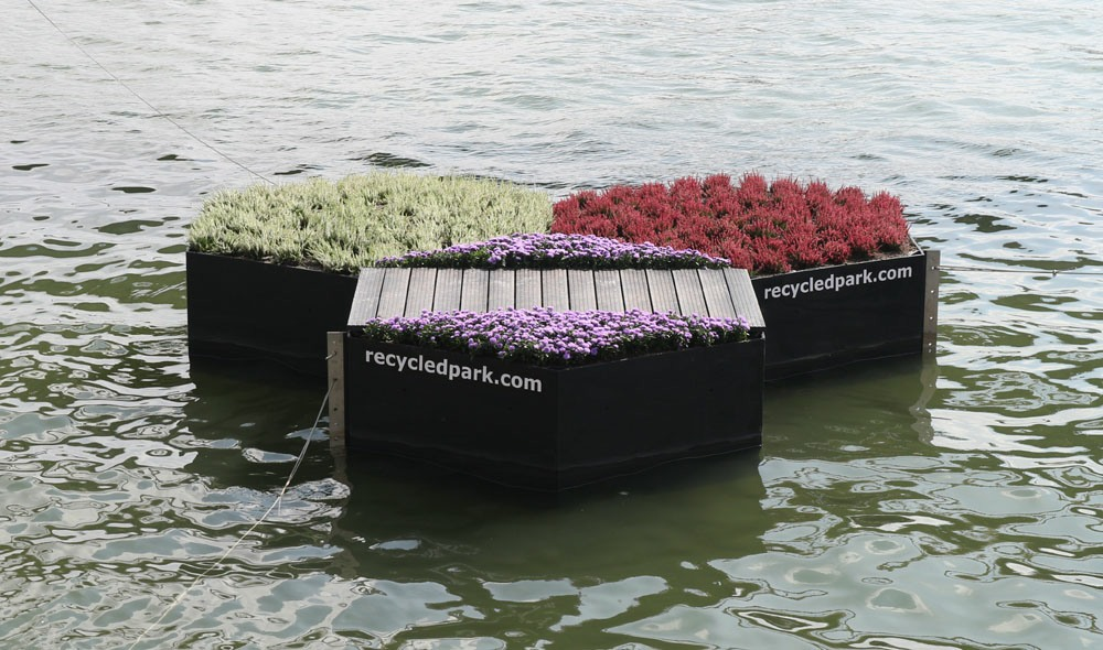 parque flotante de rotterdam