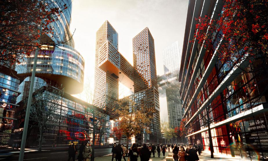 El edificio Yon en Seúl fue construido por la firma danesa BIG que se encarga de crear arquirectura basada en la vida contemporánea de las personas.