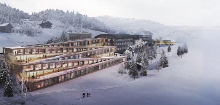 Proyecto diseñado por la firma danesa BIG en Suiza.