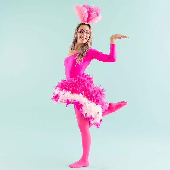 Ideas para halloween, ideas de disfraces para halloween, halloween costumes, ideas for halloween costume, flamingo costume, disfraz de flamingo.