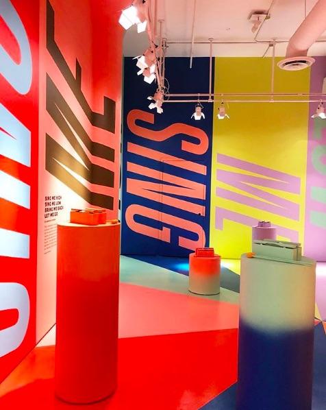 Exposición de colores de Nueva York hecha por Color Factory.