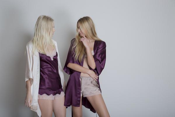 batas de seda, conjuntos de lencería de seda con encaje Minaci