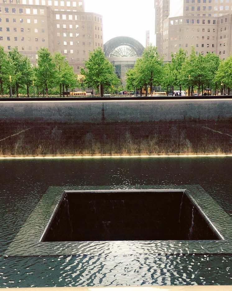 Zona cero en nueva york. memorial 911 nueva york.